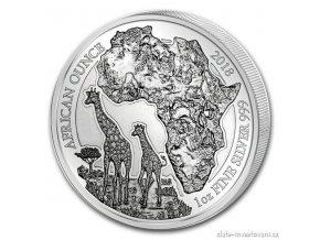 6089 investicni stribrna mince rok zirafa 2018 rwanda 1 oz