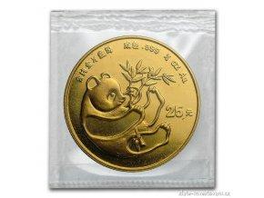 6092 investicni zlata mince cinska panda 1984 1 4 oz