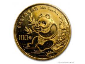6125 investicni zlata mince cinska panda 1991
