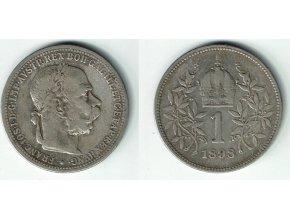 6128 stribrna koruna frantiska josefa i 1898