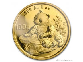 6140 investicni zlata mince cinska panda 1998 1 oz