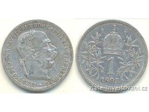 6161 stribrna koruna frantiska josefa i 1895