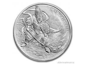 Investiční stříbrná mince Gallus 2017-Jižní Korea 1 Oz