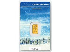 6191 investicni zlata cihla argor heraeus zima 2017 limitovana edice svycarsko 1g