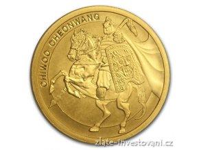 Investiční zlatá mince Chiwoo Cheonwang 2017-Jižní Korea 1 Oz