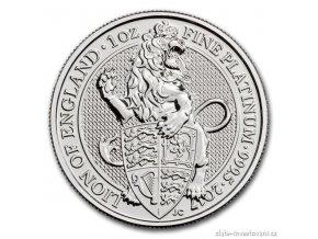 6242 investicni platinova mince lev kralovny anglie 2017 heraldicka serie 1 oz