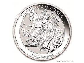 6251 investicni stribrna mince australska koala 2018 1 oz