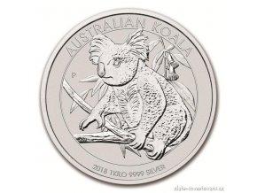 Investiční stříbrná mince australská Koala 2018 1 Kg