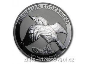 Investiční stříbrná mince australský Kookaburra 2011 1 Kg