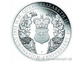 6317 stribrna mince 65 vyroci korunovace kralovny alzbety ii proof