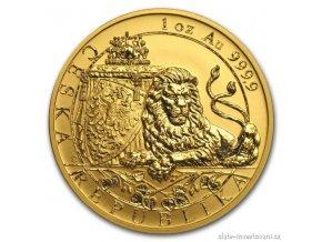 6323 zlata investicni mince cesky lev 2018 reverzni proof 1 oz