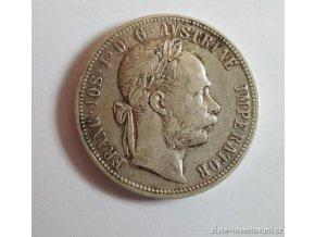 6365 stribrny 1 zlatnik frantiska josefa i 1886