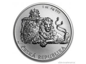6386 investicni stribrna mince cesky lev 2018 1 oz