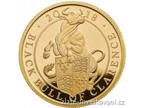 6395 investicni zlata mince byk kralovny anglie 2018 heraldicka serie proof 1 4 oz