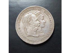6461 stribrny 2 zlatnik frantiska josefa i 1879 pametni