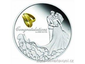 6473 stribrna svatebni mince 2018 australie 1 oz