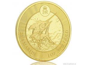 6482 investicni zlata mince mecoun 2018 kajmanske ostrovy 1 oz