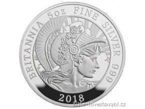 6485 stribrna mince britannia 2018 silver proof 5oz