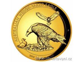 6488 zlata mince orel klinoocasy 2018 vysoky relief proof 2 oz