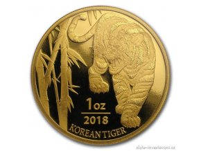 6491 zlata investicni mince korejsky tygr 2018 1 oz