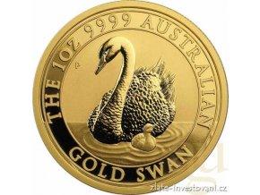 Zlatá investiční mince australská Labuť-Perth Mint 2018 1 Oz