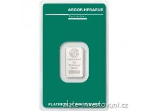 6512 investicni platinova cihla argor heraeus 5g