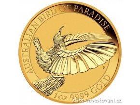 Zlatá investiční mince Bird of Paradise-Austrálie 2018 1 Oz