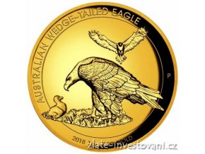 6551 zlata mince orel klinoocasy 2018 vysoky relief proof 1 oz