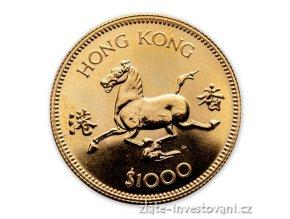 Zlatá mince lunární rok Koně 1978-Honkong