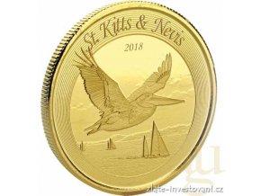 Investiční zlatá mince Pelikán-St Kitts a Nevis  2018 1 Oz