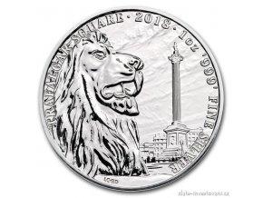 Investiční stříbrná mince Trafalgarské náměstí  2018 1 Oz