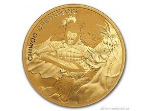 Investiční zlatá mince Chiwoo Cheonwang 2018-Jižní Korea 1 Oz