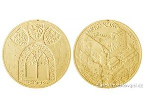 6632 zlata mince hrad kost 2016 bk 1 2 oz