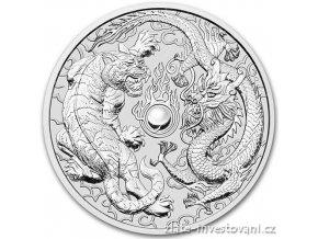 6635 investicni stribrna mince drak a tygr 2018 1 oz