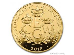6647 zlata mince ctyri generace kralovske rodiny 2018 proof 5 oz