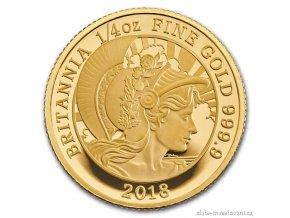 6662 zlata mince britannia proof 2018 1 4 oz