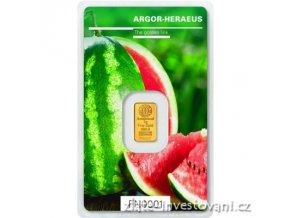 Investiční zlatý slitek Argor Heraeus-Léto 2018 limitovaná edice Švýcarsko 1g