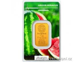 Investiční zlatý slitek Argor Heraeus-Léto 2018 limitovaná edice Švýcarsko 10g