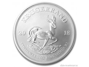 6692 investicni stribrna mince krugerrand 2018 1 oz