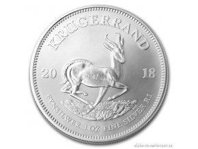 Investiční stříbrná mince Krugerrand 2018 1 Oz