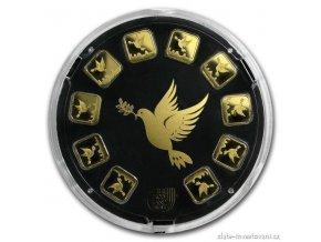 Investiční zlatý slitek Holubice-Holy Land Mint -slunečnice 10g