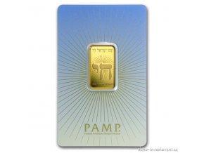Investiční zlatý slitek Izrael-PAMP 10g