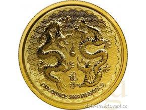 Investiční zlatá mince Dva draci 2018-Nový Zéland 1 Oz