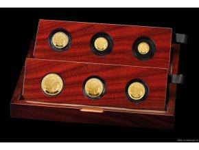 6710 investicni set zlatych minci britannia 2018 6 minci proof