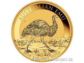 Zlatá investiční mince Emu-Austrálie 2018 1 Oz