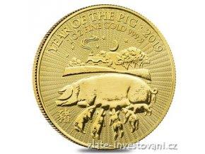6725 investicni zlata mince rok vepre 2019 lunarni serie velke britanie 1 oz