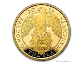 6731 zlata mince sokol kralovny anglie 2019 heraldicka serie 1 oz
