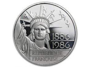 6755 stribrna mince francouzsky 100 frank 1986 socha svobody