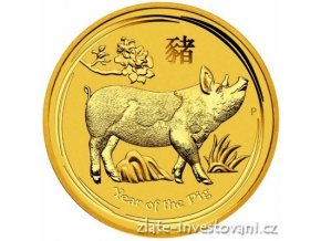 Investiční zlatá mince rok Vepře 2019 1/2 Oz