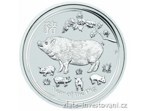 Investiční stříbrná  mince rok Vepře 2019 1 Kg